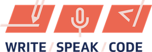 Write speak code logo